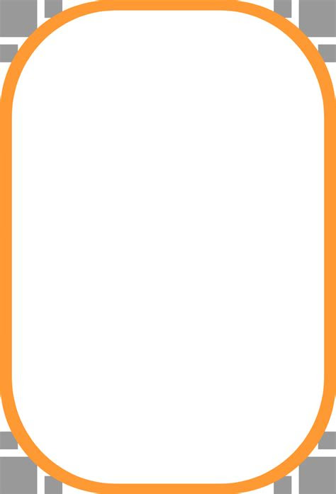 orange border frame png clipart