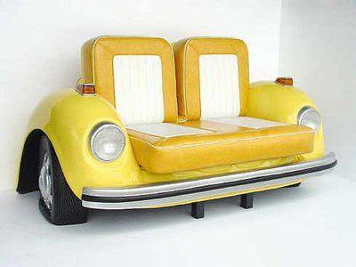 cocheamarillo Coches antiguos como muebles