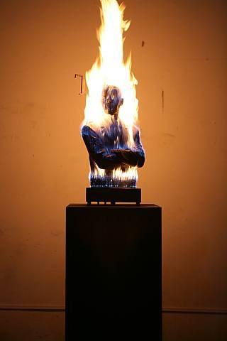 Liu Bolin, Burning Man Obama