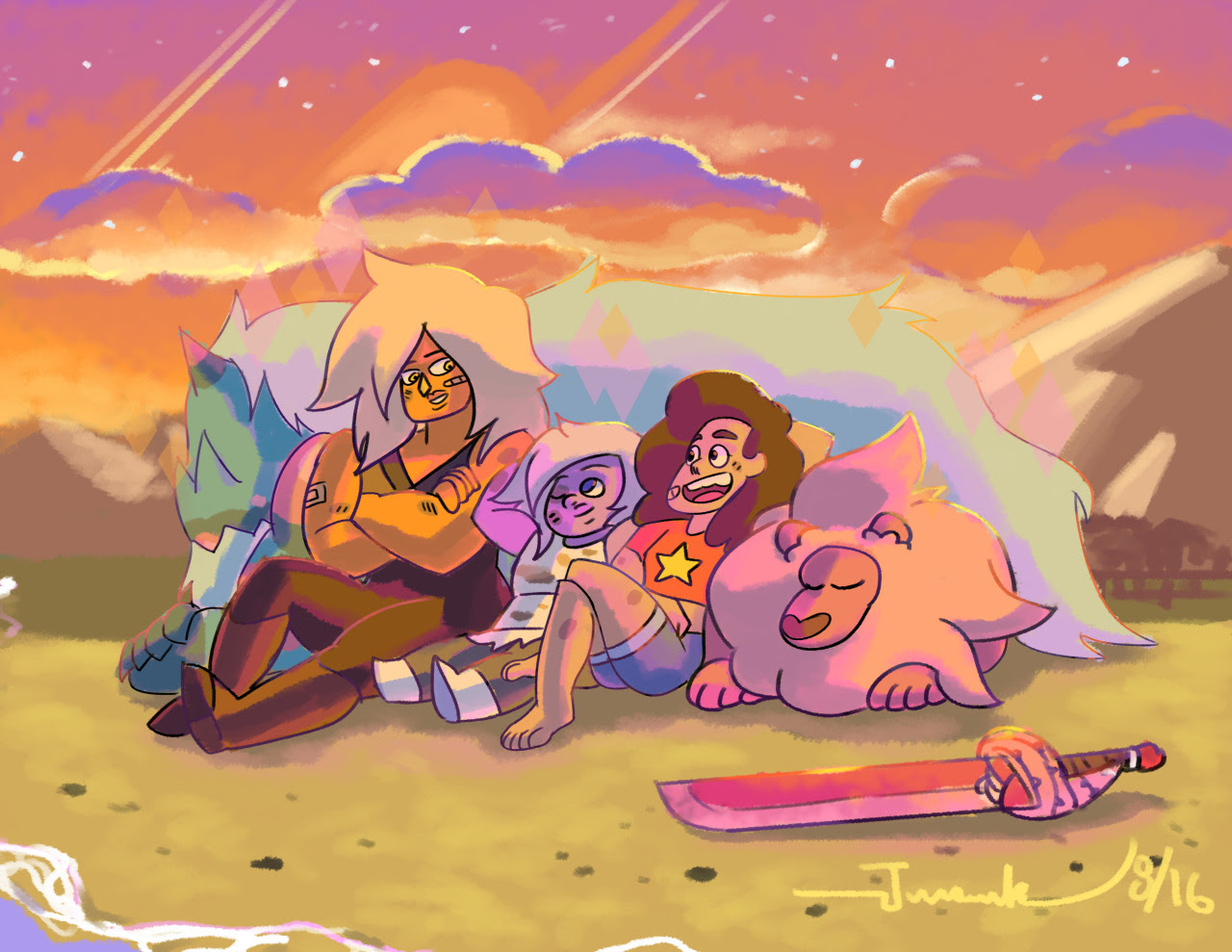 """Best Fight Ever! This summer of Steven Universe has been overwhelming with feels and action! (Mostly feels) But what really excited me was """"Crack the Whip"""" because of the epic Stevonnie vs Jasper..."""