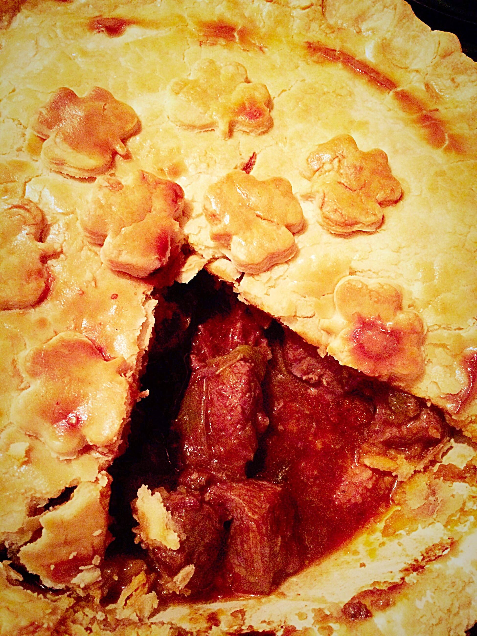 Steak Leek and Ale Pie - Feasting Is Fun