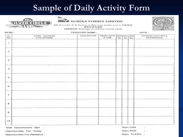 Daily Sales Report Format For Marketing – Daily Planner