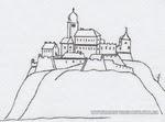Хустський замок - малюнок 17 століття