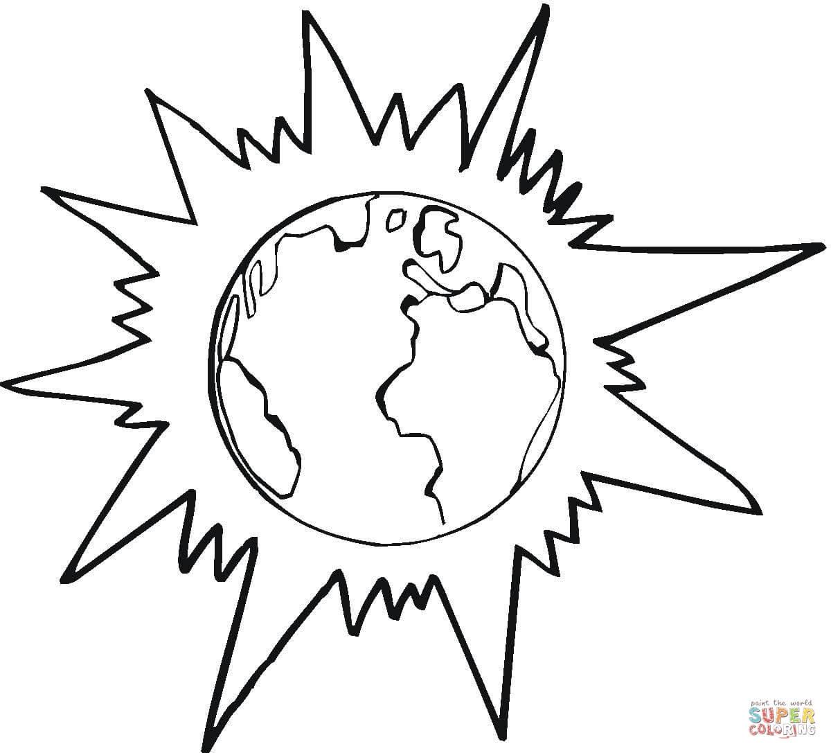 Dibujo De Jupiter Y Otros Planetas Para Colorear Dibujos Para