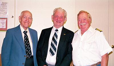 Reunion de grandes (De izq a der. James Winker, Ed Yost (Inventor del globo de aire caliente) y Joe Kittinger (una leyenda viviente de la aviación)
