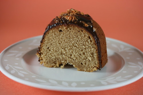 Peanut Butter-Sour Cream Bundt Cake with Butterfinger Ganache Glaze - I Like Big Bundts 2010