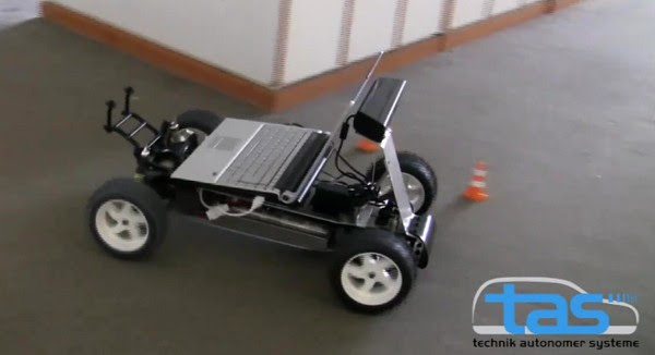 Kinect gets its own set of wheels, drives a car, nothing can stop it now (video)