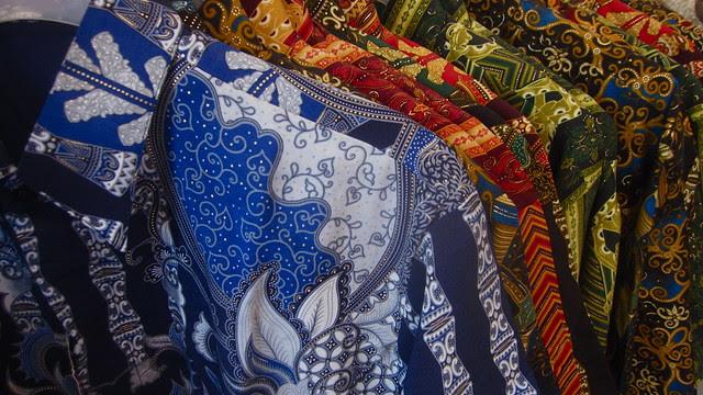 Papuan batik shirts, Hamadi Market, Jayapura