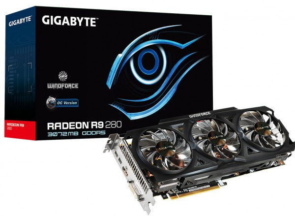 Gigabyte Radeon R9 280 WindForce OC R928WF3OC-3GD (1)