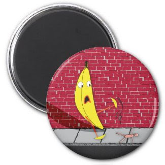 Banana Slipping on a Person Magnet magnet