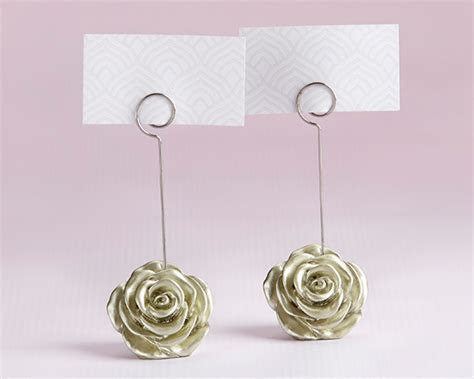 Light Gold Rose Place Card Holder (Set of 6)   Kate Aspen