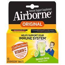Effervescent Lemon-Lime Immune Support Supplement Tablets, Lemon-Lime