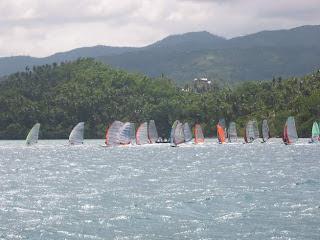 windsurfing regatta start