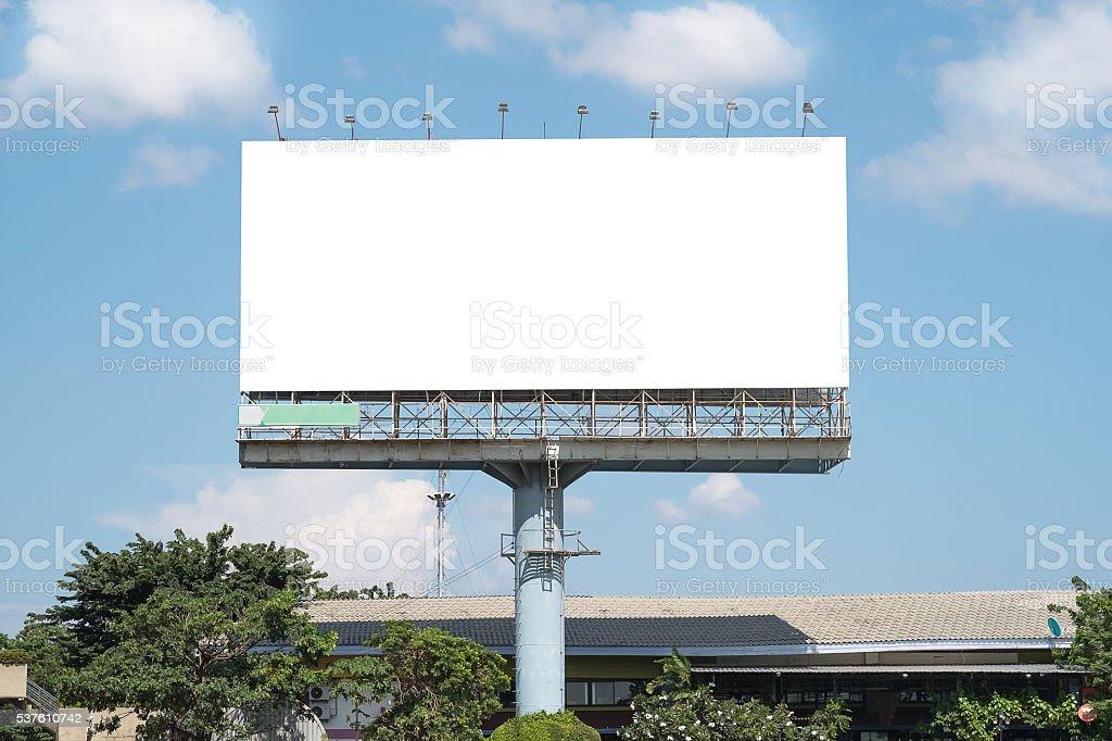 Blank Billboard Mockup Template In Bangkok Thailand stock photo ...