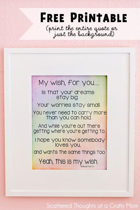Free Art Printable My Wish Scattered Thoughts Of A Crafty Mom