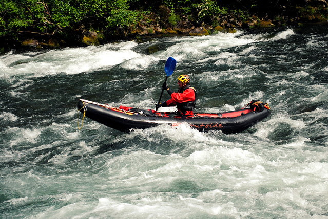 Kayaker on Clackamas River