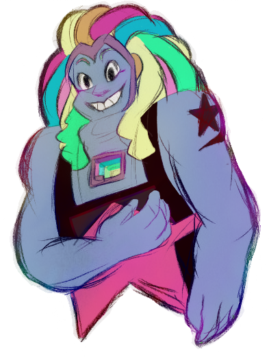 I drew Bismuth wayy back when she first appeared