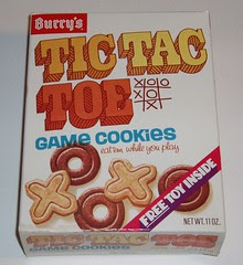 Burry's Tic Tac Toe cookies
