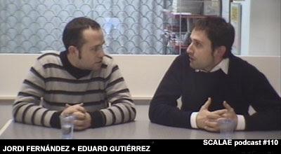 Jordi Fernández Rio y Eduardo Gutiérrez Munné en el Centro de Enlace AE BCN para SCALAE