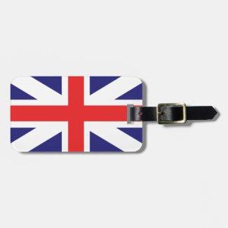 Union Jack Flag Luggage Tag