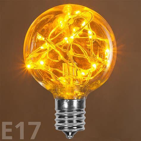 G50 Gold LEDimagine TM Fairy Light Bulb, E17 Base