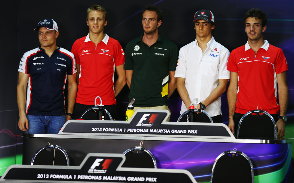 Max Chilton and Esteban Gutierrez - Previews of F1 Grand Prix of Malaysia