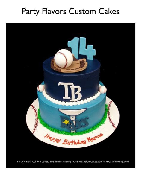 #TampaBay @RaysBaseball Birthday cake. Sports themed for