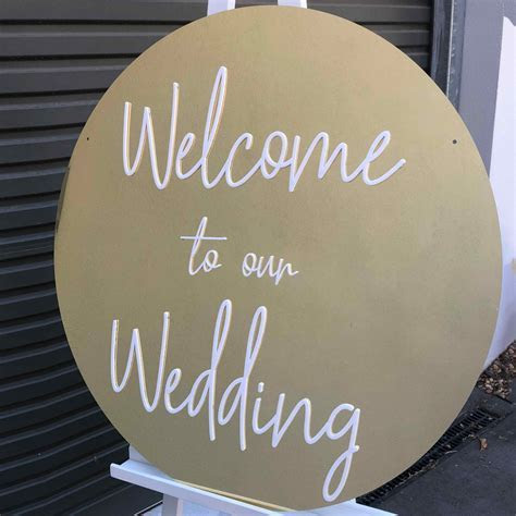 Gold Welcome to our Wedding Signage for Hire in Melbourne