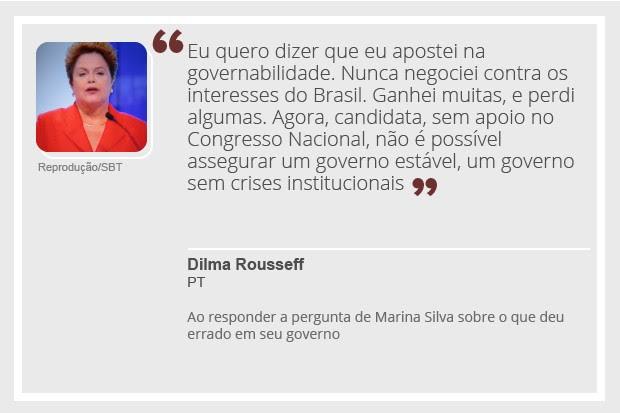 Dilma - debate - 2 (Foto: Reprodução)