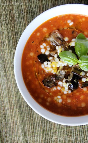 Burnt Aubergine & Mograbieh Soup 3