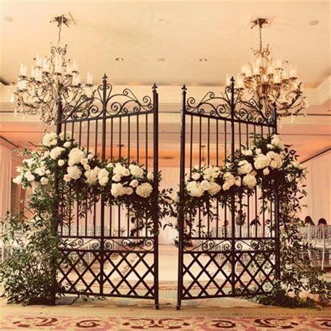 Wrought Iron Garden Gate Decor   Entertaining   Weddings