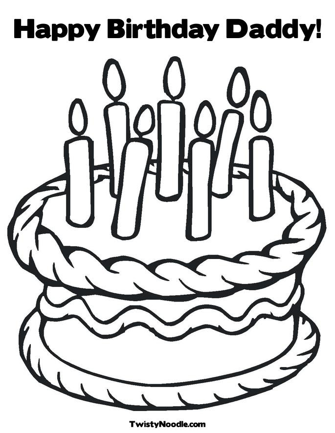Happy birthday daddy coloring pages to download and print ...