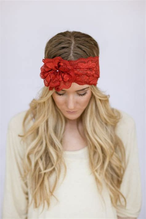 Lace Headbands with Flower Hair Bands for Wedding Pearl