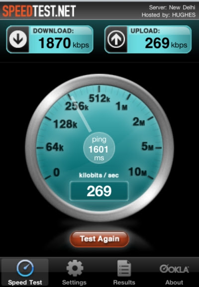 Aircel 3G Speed Test , get 250 MB Free Usage till Feb 27