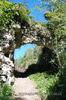 Хустський замок: арка воріт з півдня