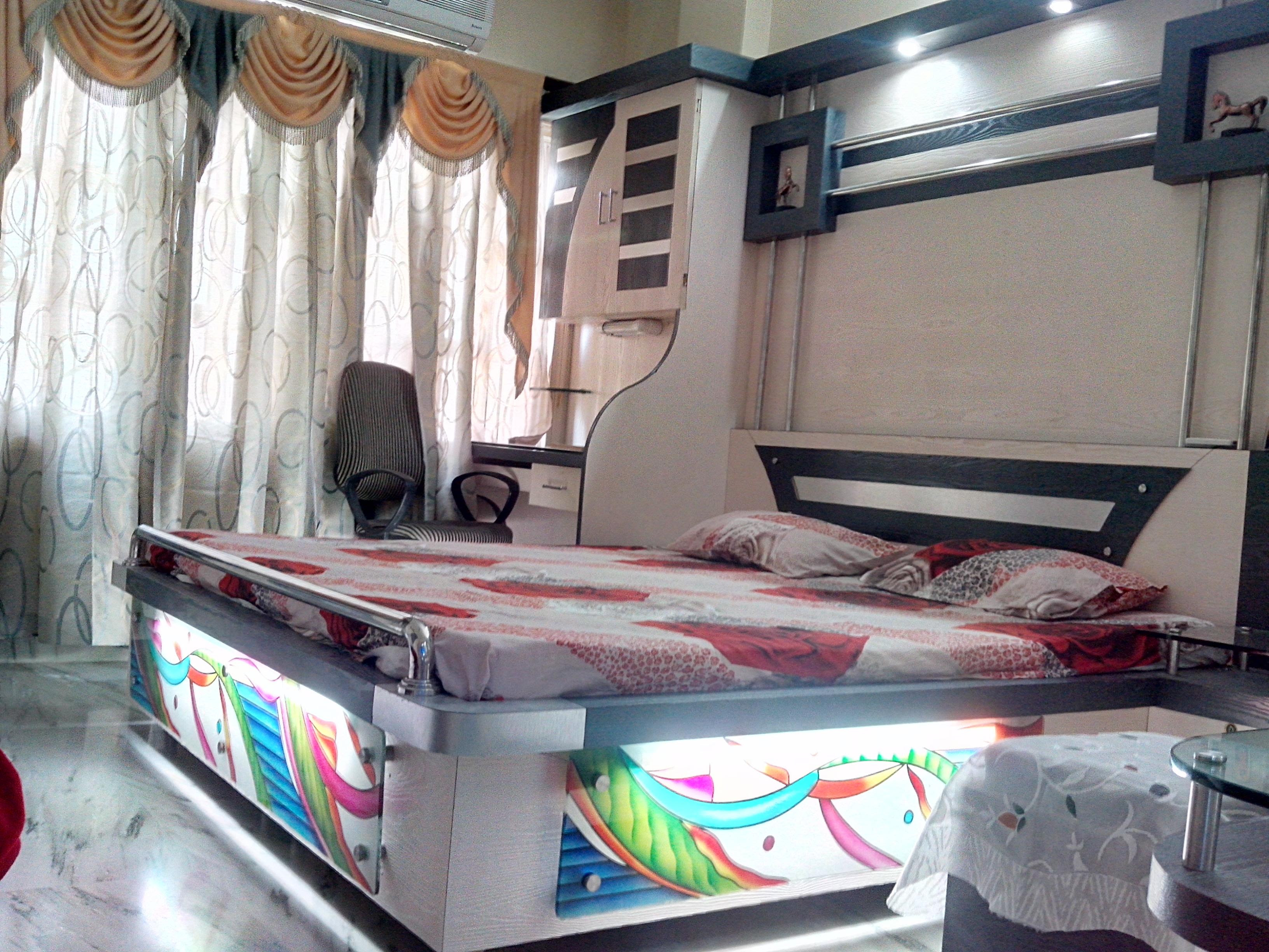 Bed And Study Table Design For Modern Bedroom Gharexpert