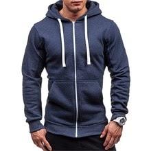 Men Classic Hoodies Zipper Long Sleeve Male Sweatshirt Hoodies Winter Jacket Coat