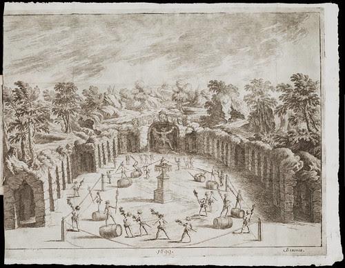 Torneo di Bacco per la festa popolare della Porchetta nella fiera dellanno 1699