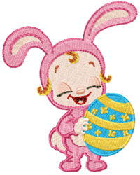 Free Easter Baby Bunny Embroidery Design