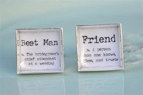 Best Man and Friend definition word cufflinks   groomsmen