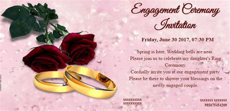 Free Engagement Invitation Card & Video, Online Invitations