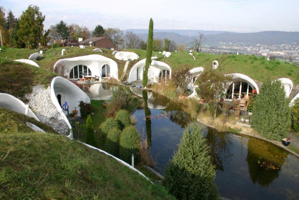 Casa oásis oculta sobre a terra na Suíça 01