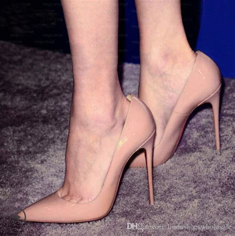 Fashion Pointed Toe Leather Women Pumps Thin High Heel