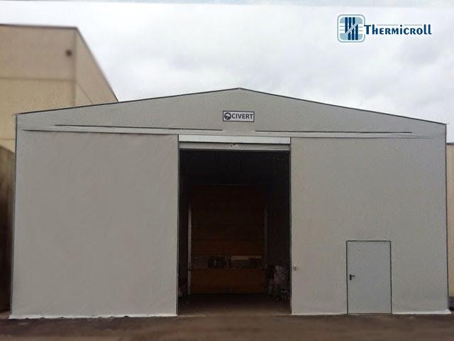 doppie porte coibentate rapide avvolgibili thermicroll installate nel tunnel mobile civert