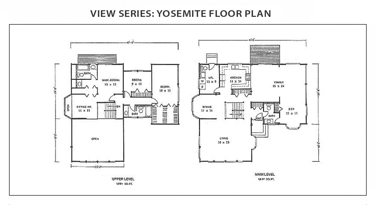Yosemite Floor Plan View Series IHC