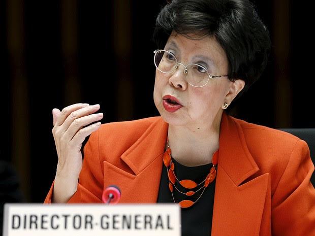 A diretora -geral da OMS (Organização Mundial da Saúde), Margaret Chan, durante encontroo do painel executivo da entidade (Foto: Denis Balibouse/Reuters)