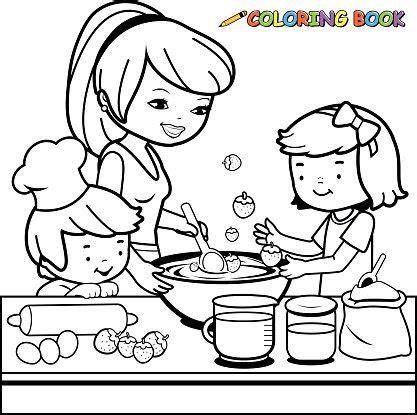 hd exclusive mutfak boyama sayfasi resim boyama