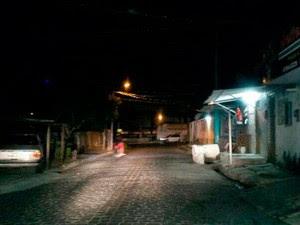 Crime aconteceu na Rua da Fé, no bairro Felipe Camarão, em Natal (Foto: Muriu Mesquita/Inter TV Cabugi)