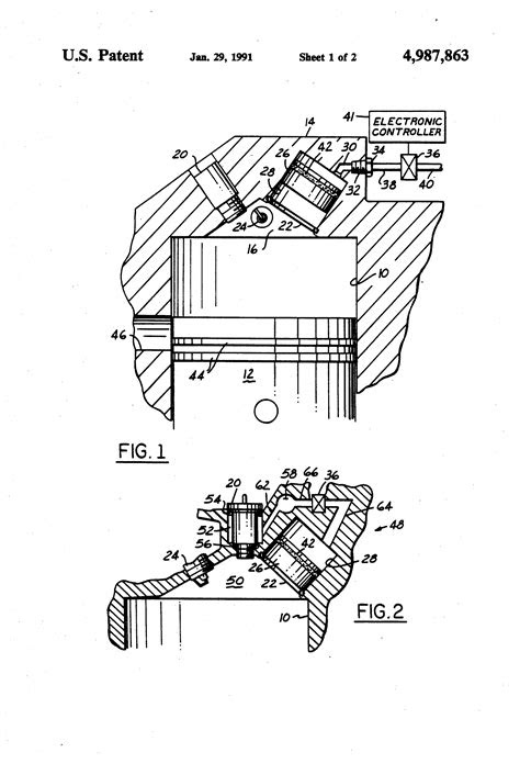 Patent US4987863 - Variable compression ratio internal