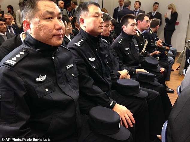 Chinese policemen are in Italy to start patrols with Italian officers in Rome and Milan as part of a two-week experiment